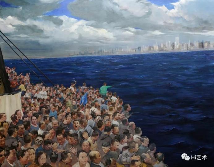 《我们发现了美洲》200×250cm 布面油画 2015