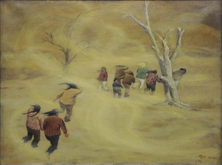 《刮黄风》65×80cm 布面油画 1997