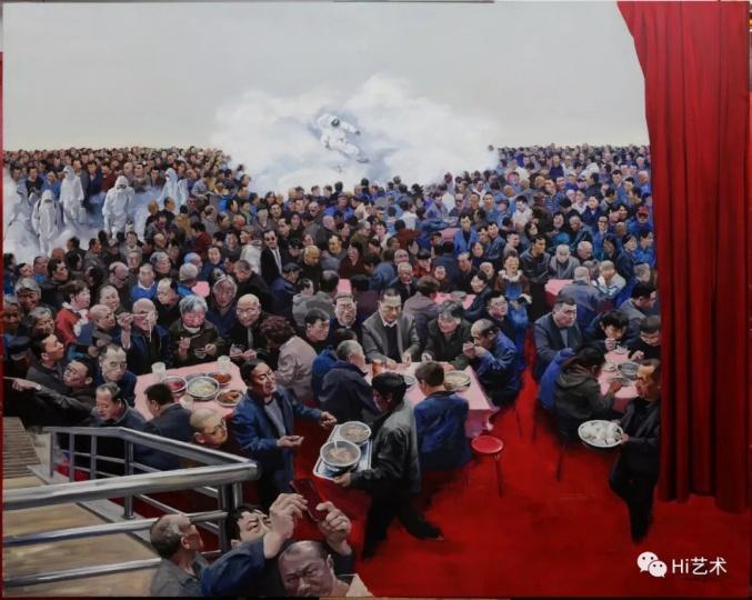 《现实生活》 200×250cm 布面油画 2016