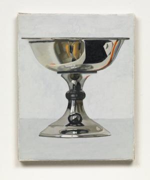"""彼得·德雷赫 《""""银碗""""系列》 25 x 20 cm 布面油画 2012"""