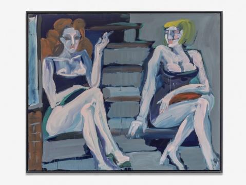 卡尔·霍斯特·赫迪克 《波茨坦大街》 154x189cm 布面丙烯 1977