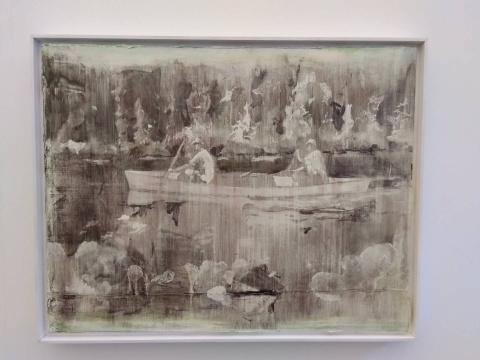 涂曦 《行舟 No.3》70×90cm 布面油画 2018