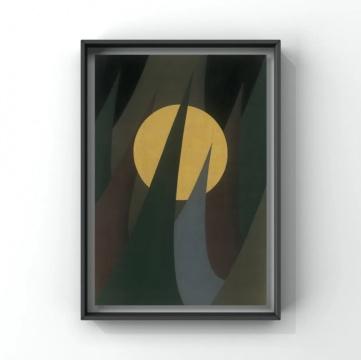 曾志钦 《侵蚀之二》 78×54cm 绢本设色&金箔 2019