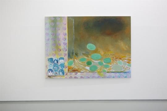 段建宇《浮萍》180×250cm 布面油画、丙烯、油性笔、铅笔 2020
