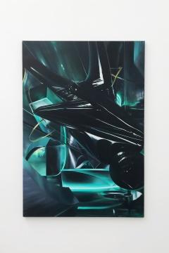 沈正麟《Virtual Sanctuary NO.1》,布面油画,111.3x161.3cm,2018