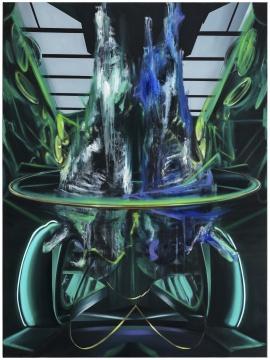 沈正麟《Virtual Sanctuary NO.11》,布面油画,150x200cm,2019