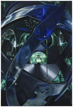 沈正麟《Virtual Sanctuary NO.6》,布面油画,111.3x161.3cm,2019