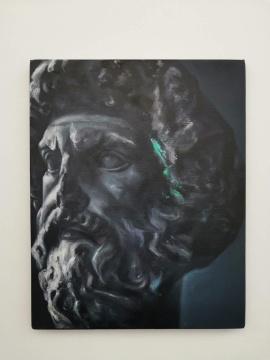 沈正麟《Mnemosyne191201》,布面油画,50x40cm,2019