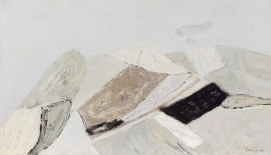 当代艺术夜场(一)尚扬_E地风景-32 2006年_布面 油彩 _46×80cm