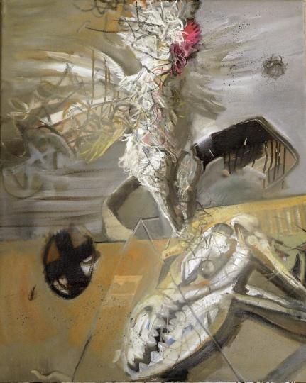 《生灵系列-对垒1》 80×100cm 布面油画 2011