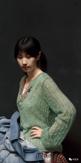 冷军 《肖像之相——小姜》120×60cm 布面油画 2011