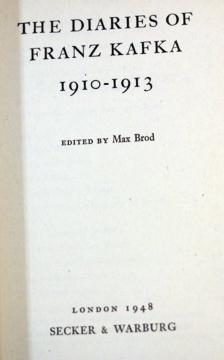 1948年首版的《卡夫卡日记(1910-1913)》