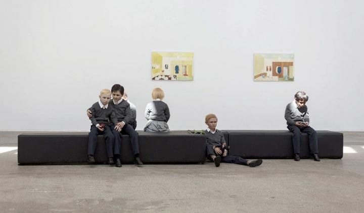 """""""我是谁""""展览现场,当代唐人艺术中心"""