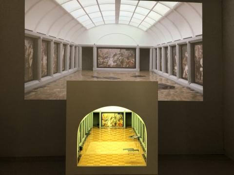 格鲁吉亚艺术家加布尼亚(Tezi Gabunia)作品 《突发新闻:卢浮宫洪灾 》凸显了个体在灾难面前的无力与脆弱 Kornfeld画廊