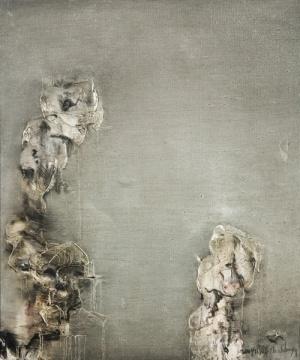周春芽 《太湖石》 60×50cm 布面油画 2004 255次出价 成交价:¥1,210,000  永乐艺术季