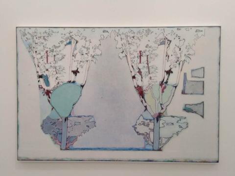 唐永祥 《两棵树 左边树上有块绿色》200×300cm 布面油画 2020