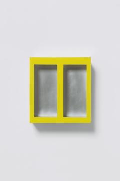 《Still Life》20×21×10cm 铝合金、金属底漆、丙烯 2019