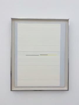林寿宇 《T and A,Painting relief 》91.4x71.1cm 布面油彩&金属条 1969