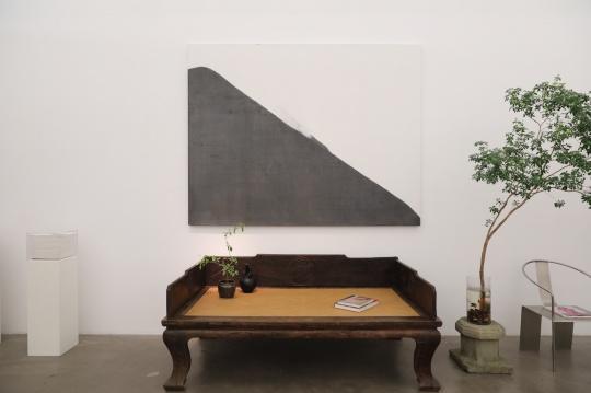 曹吉冈 《2019No.1》 90×150cm 亚麻布坦培拉 2019