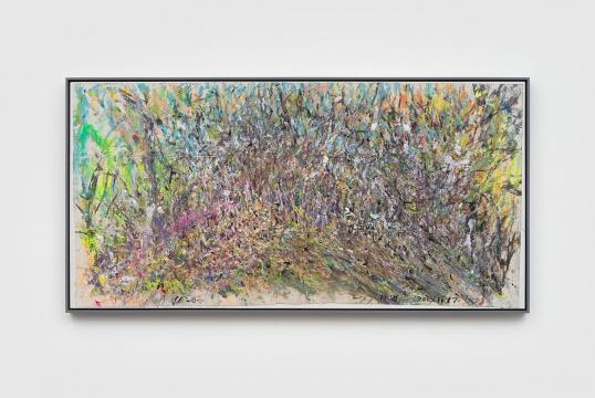 《冬天的植物园》 98x196cm 纸本丙烯水墨 2018