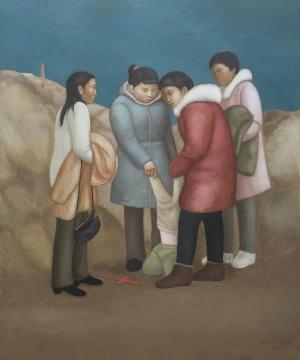 段建伟 《北泉寺三》 180×150cm 布面油画 2018