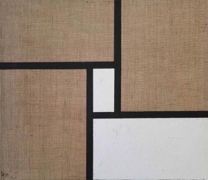 黄锐《无题(禅空间系列)》80×95cm 布面油画 2020