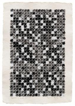 丁乙《十示2020-B1》56×38cm 手工纸上丙烯、水溶性彩铅、铅笔 2020