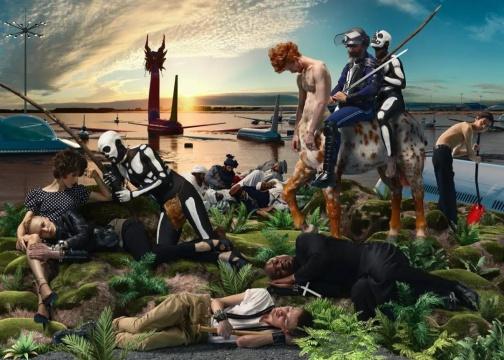 《神圣的寓言 -骑士与死亡》150×250cm 彩色激光银盐打印 2011