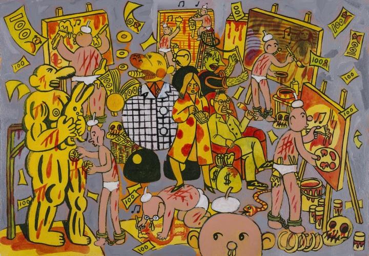 《艺术圈》 27×39cm 纸上丙烯 2015