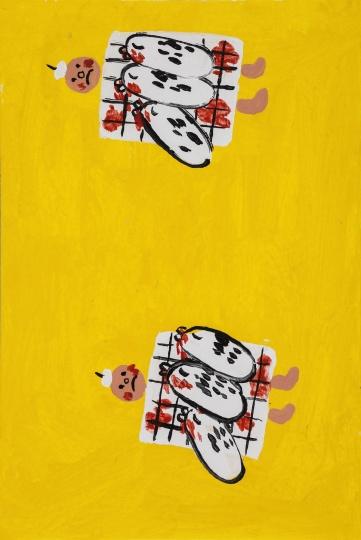 《吸血虫之一&二&3》 15×10cm纸上丙烯2015