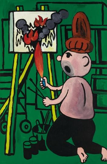《厌倦了绘画》168×110cm 布面丙烯2014