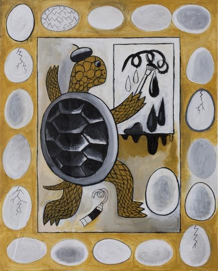 《龟和蛋》 50×40cm 布面丙烯 2016