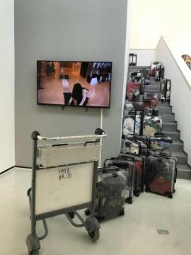 胡佳艺 《旅行箱》 51×35×21cm×25树脂、生活用品 2019
