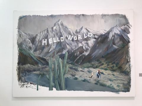 梁旭 《HELLOWORKD》 180×250cm 布面油画 2019