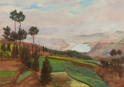 吴作人 《嘉陵江边》 布面油画 1939©泰康收藏 TAIKANG COLLECTION