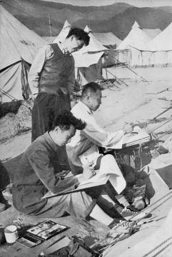 杨子颐 《画家们在创作》 1958
