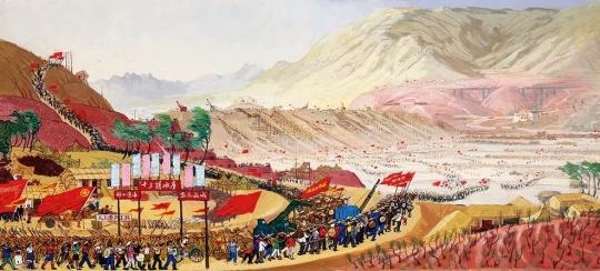 周令钊 《建设十三陵水库-1》 纸本彩墨 1958