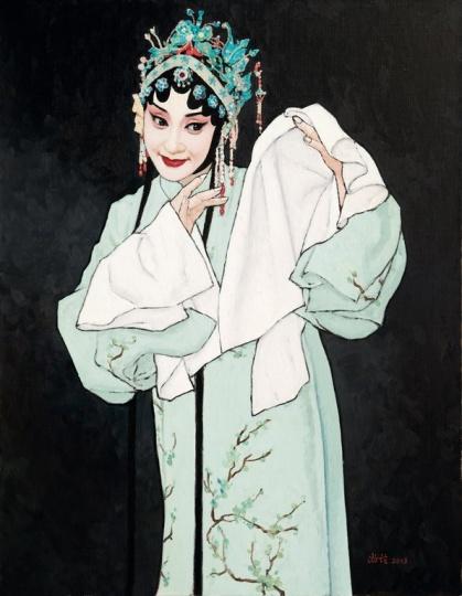 靳尚谊 《牡丹亭》90×70cm布面油画  成交价:4830万元,华艺国际2014年春拍