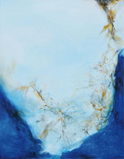 赵无极 《16.12.2001》 146×114cm布面油画 2001  成交价:3220万元,华艺国际2017秋拍