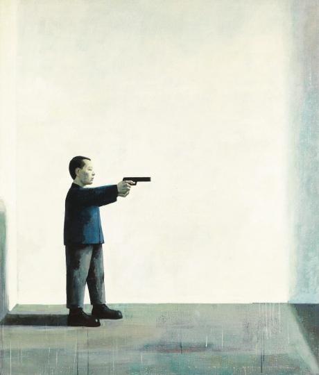 刘野 《无题》200×171cm 布面油画 1994  成交价:2006万港元,华艺国际(香港)2019秋拍