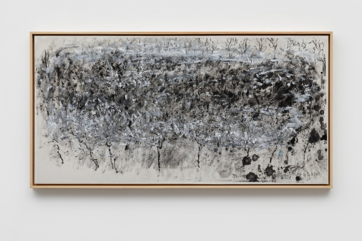 《焦墨风景》 71.6×142.5cm 纸本丙烯水墨 2011
