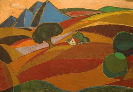 周迈由《心之屋·形而上》253×171cm 布面油画 1970