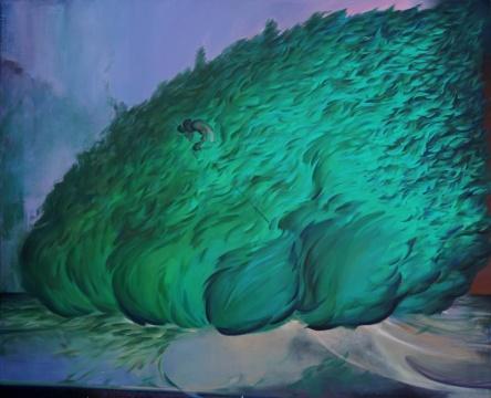 《自由树》 210×170cm布面油画 2020