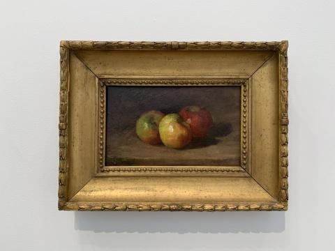 古斯塔夫·库尔贝《有三个苹果的静物》,木木美术馆馆藏