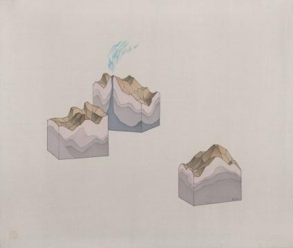 《小火山》 26×32cm 绢本2019