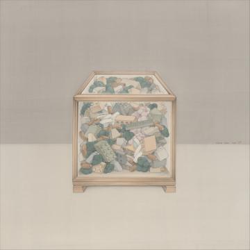 《Confined Spring》 55x55cm 绢本 2020
