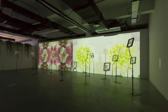 张钊瀛《艺术史里的秘密花园》视频投影10:23:00 灯光装置 尺寸可变 2020