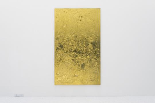 佩斯画廊  洪浩 《有边之世界二》270×165×7cm丙烯、塑形材料、金箔、画布2016