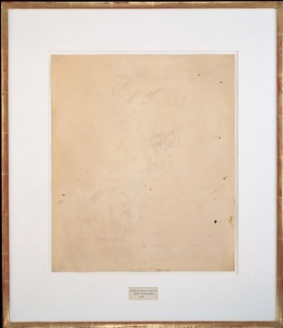 罗伯特·劳森伯格 《擦掉德·库宁的画》 64.1×55.2×1.3cm 1953©️ROBERT RAUSCHENBERG FOUNDATION