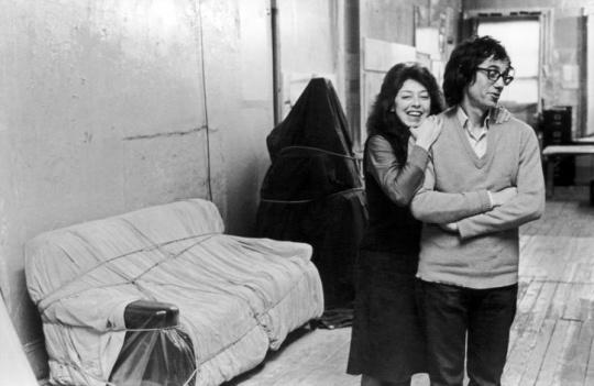 克里斯托与让娜·克劳德在工作室中 美国纽约 1976 摄影:Fred W. McDarrah/Getty Images © 1976 Christo